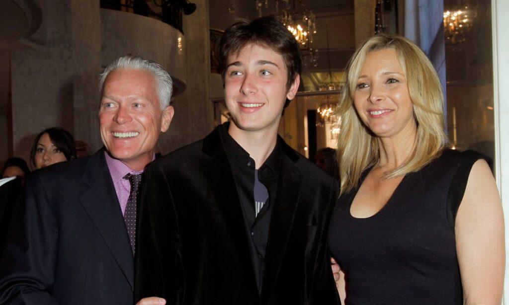 Lisa Kudrow with her husband and son Julian